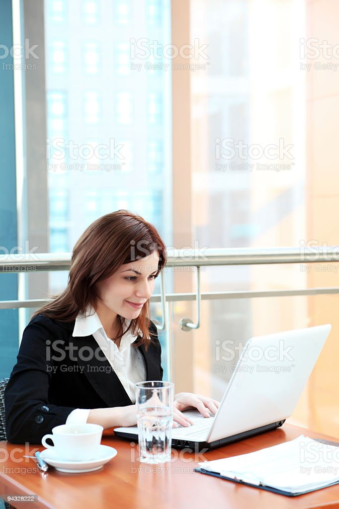 Business woman working in office. royalty-free stock photo