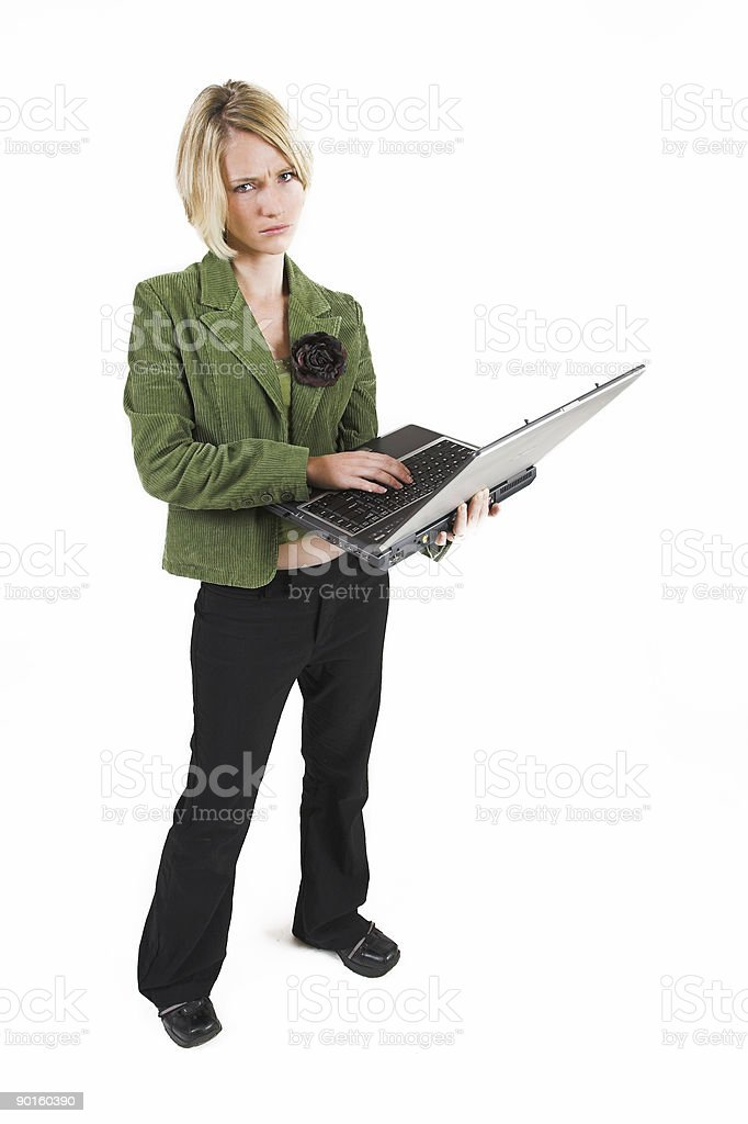 Business woman working on a notebook royalty-free stock photo
