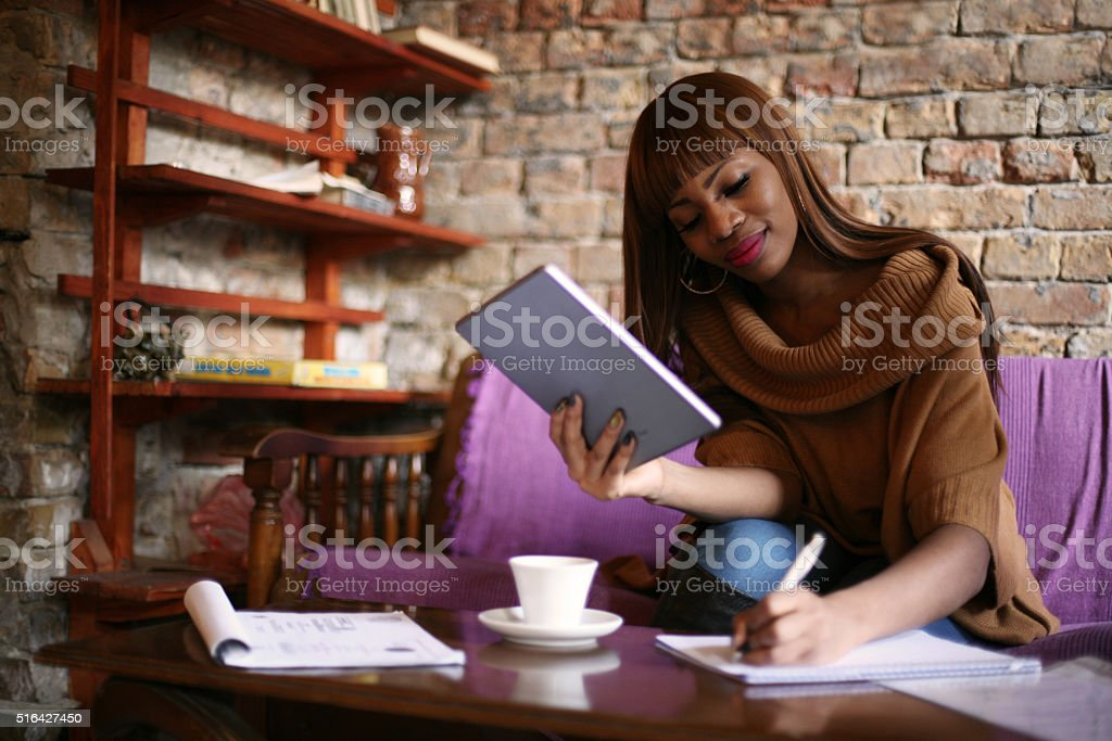 Business woman working. stock photo