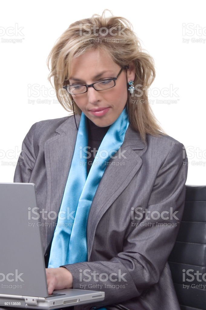 business woman working royalty-free stock photo