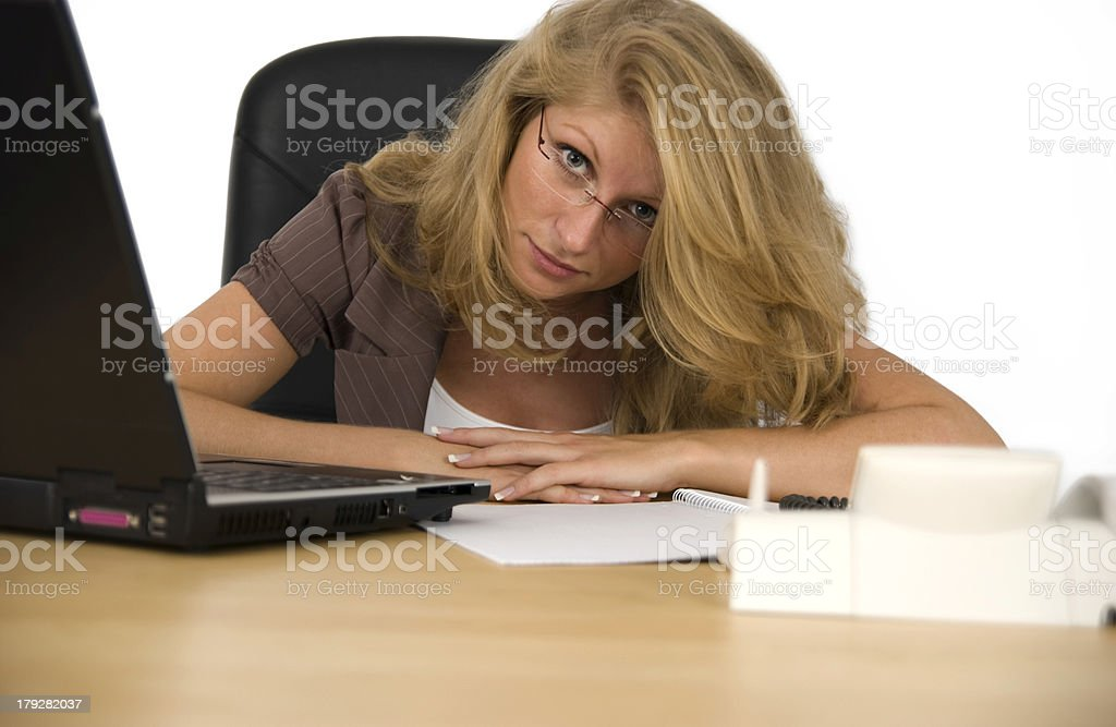 Business woman works. royalty-free stock photo