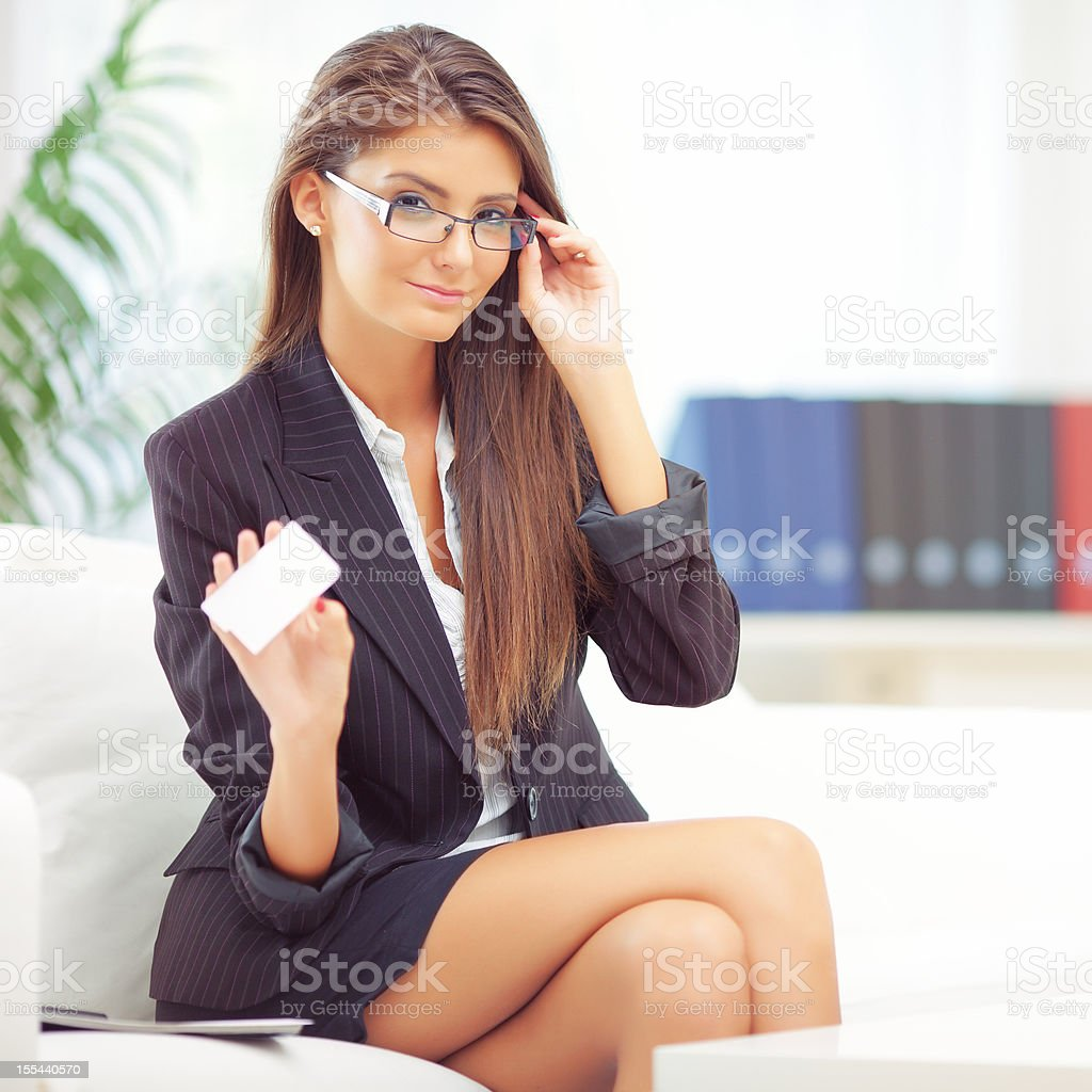 Business woman's multitasking stock photo
