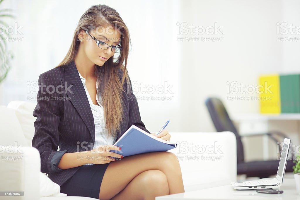 Business woman's multitasking stock photo