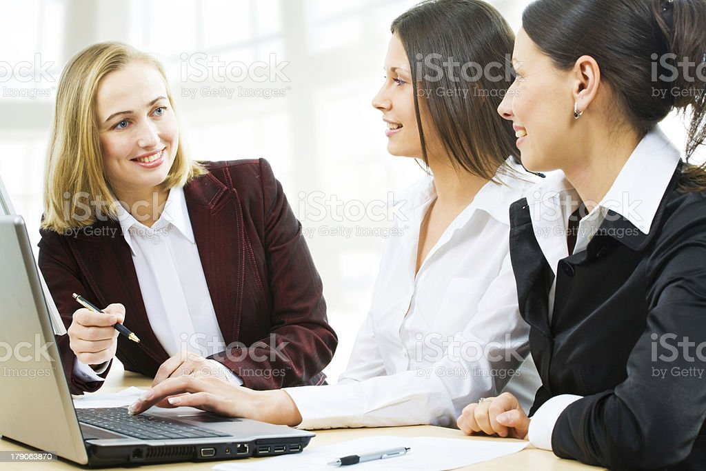Business women at office royalty-free stock photo