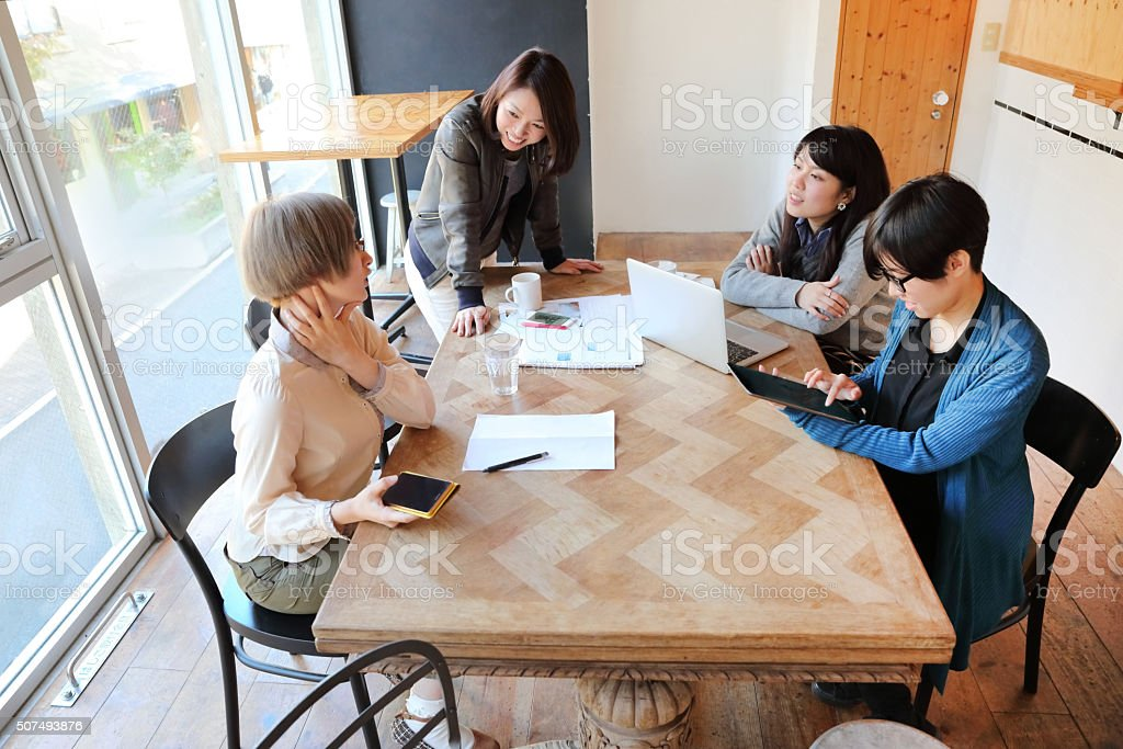 Business women in a meeting room stock photo