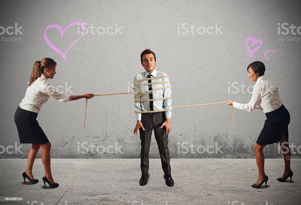 Business women in conflict stock photo