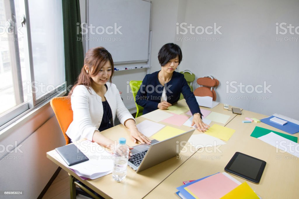 Business Women, Meeting Is About To Start stock photo