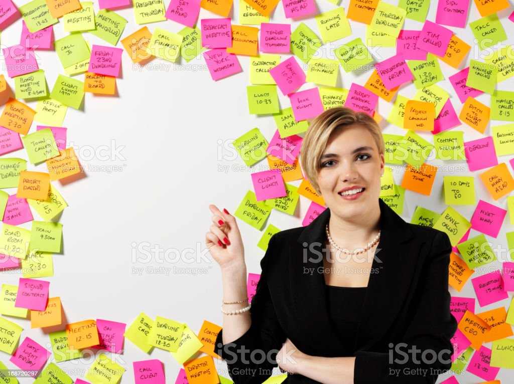 Business Women Pointing royalty-free stock photo
