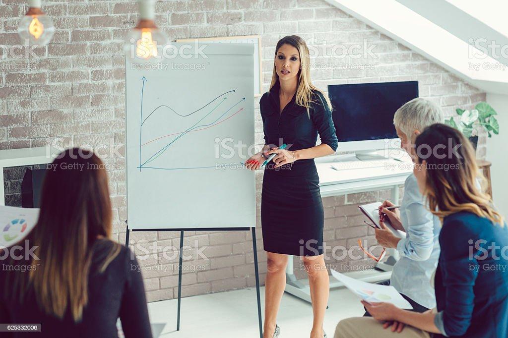 Business Women Presentation stock photo