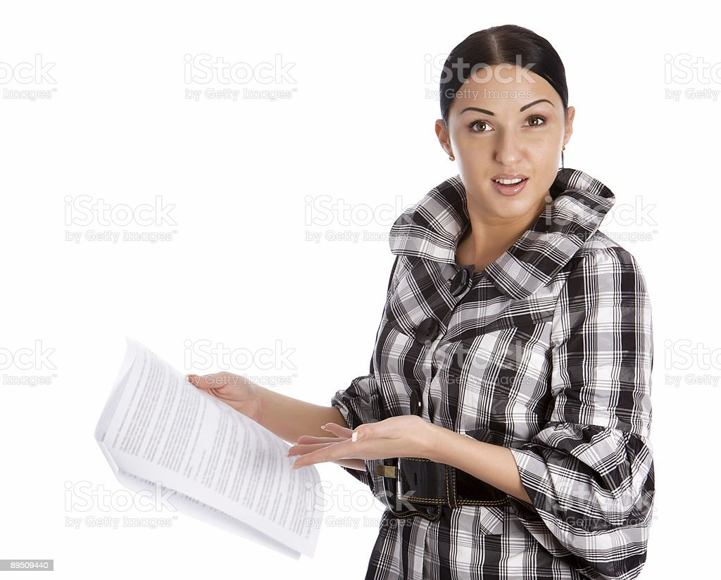 Business women read document royalty-free stock photo