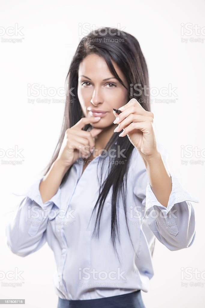 Business women, success and planing. stock photo