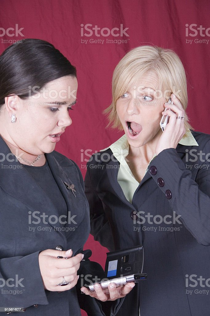 Business Women Suprised royalty-free stock photo