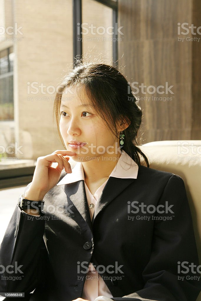 business women thinking about something royalty-free stock photo
