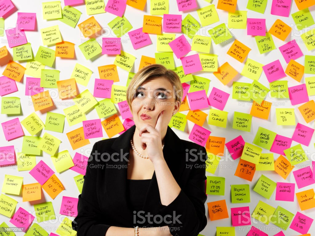 Business Women Thinking stock photo