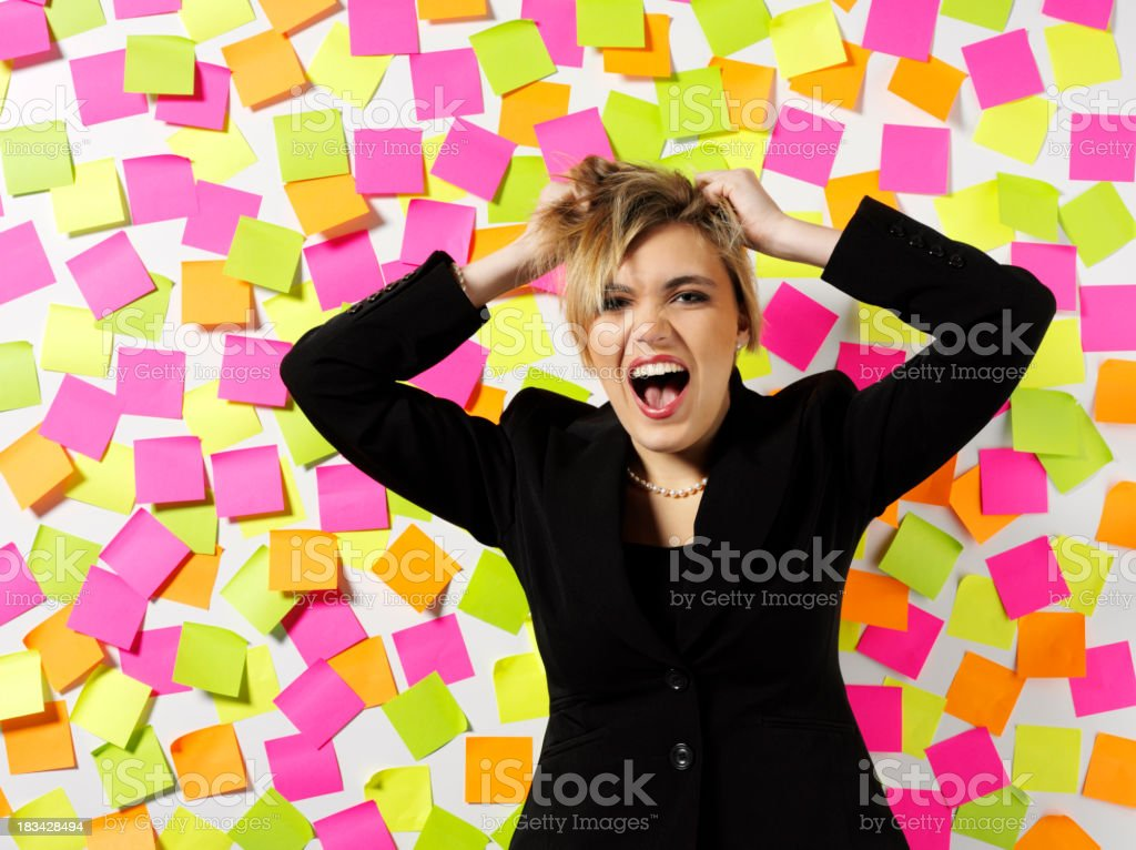 Business Women with Stress royalty-free stock photo