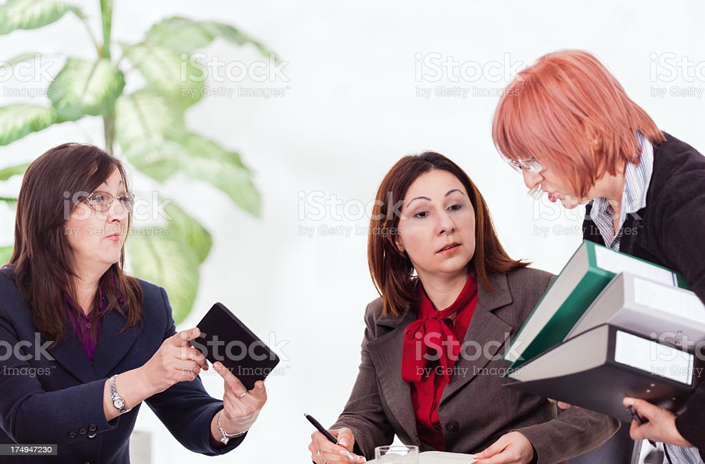 Business women working royalty-free stock photo