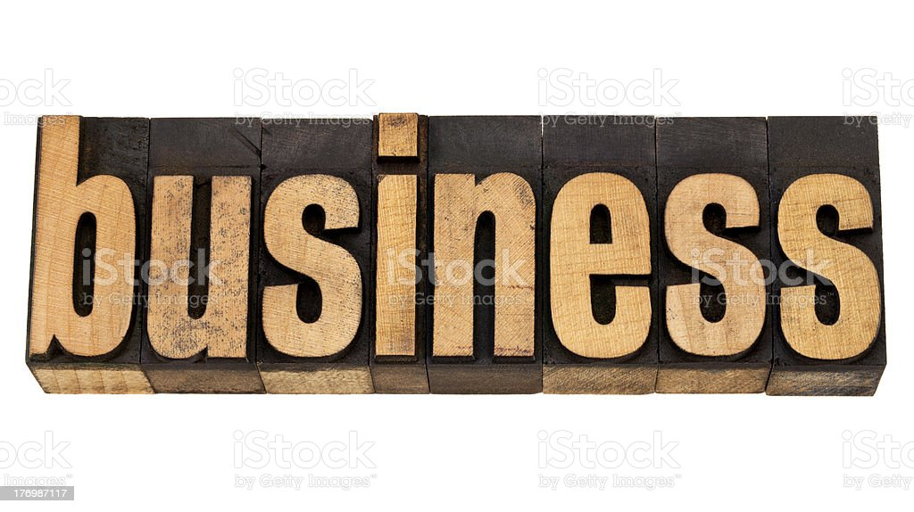 business word in letterpress type royalty-free stock photo
