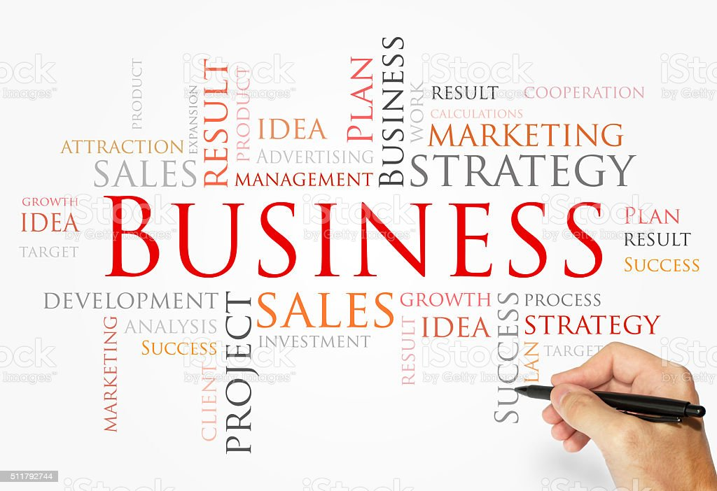 Business words made concept stock photo