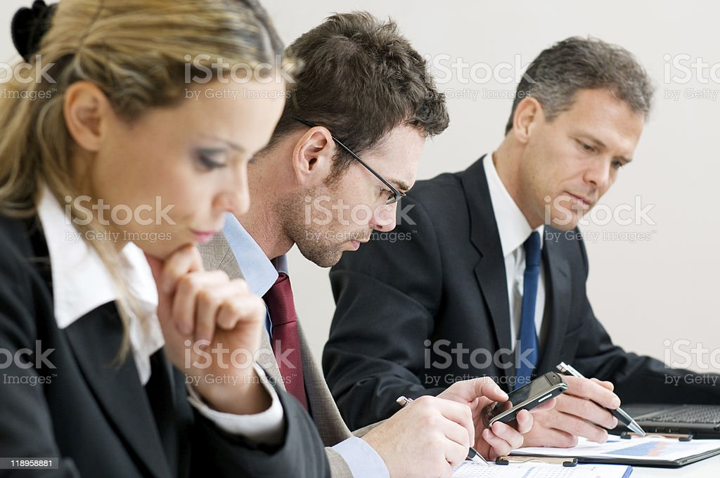 Business working meeting royalty-free stock photo