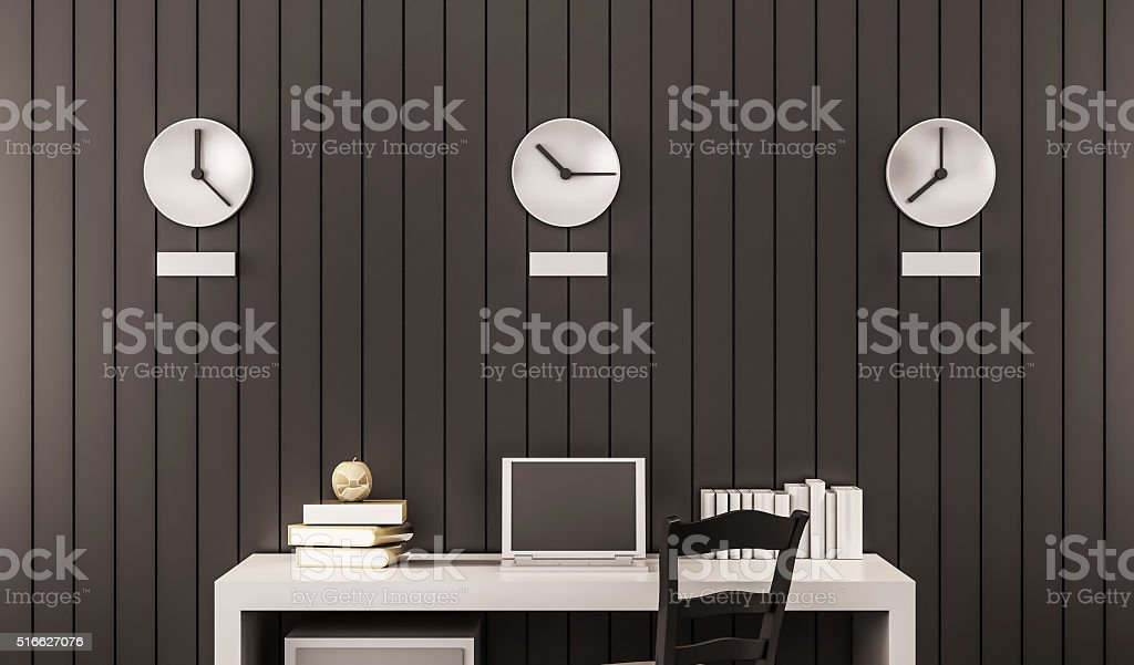 business working space, 3d rendered stock photo