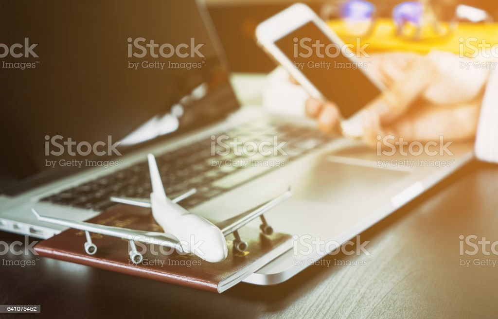 business world communication black creen for application on smartphone stock photo