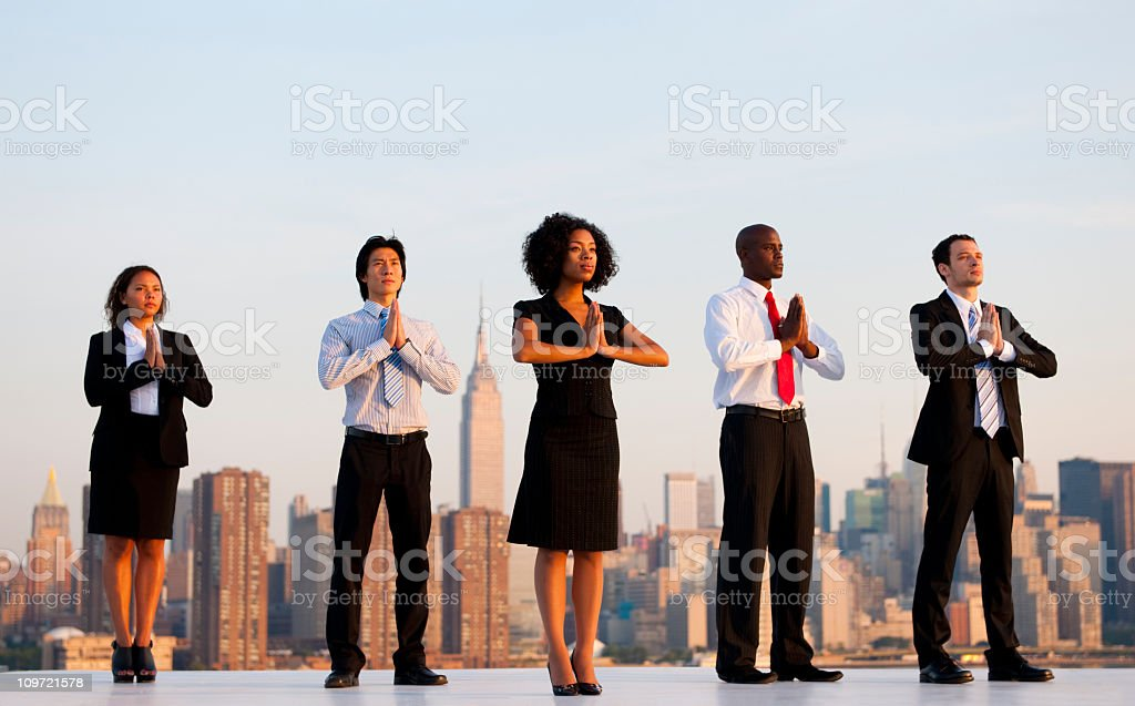 Business Yoga royalty-free stock photo