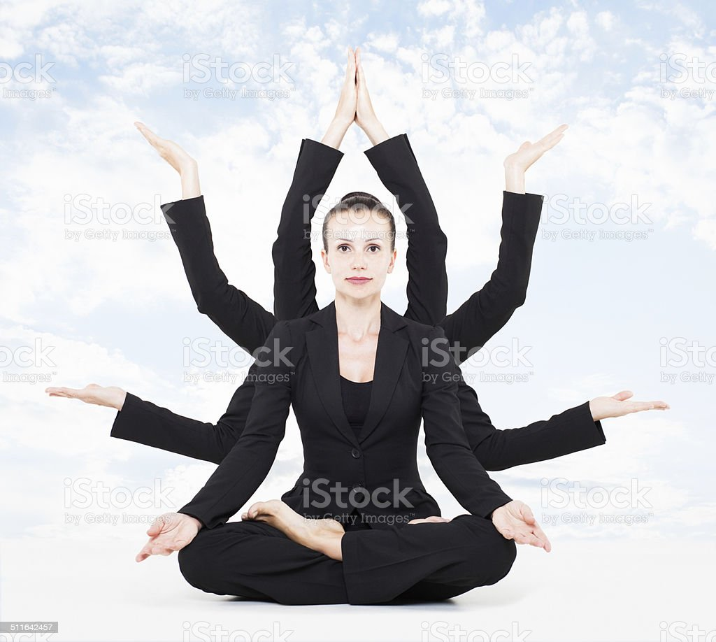 business yoga stock photo