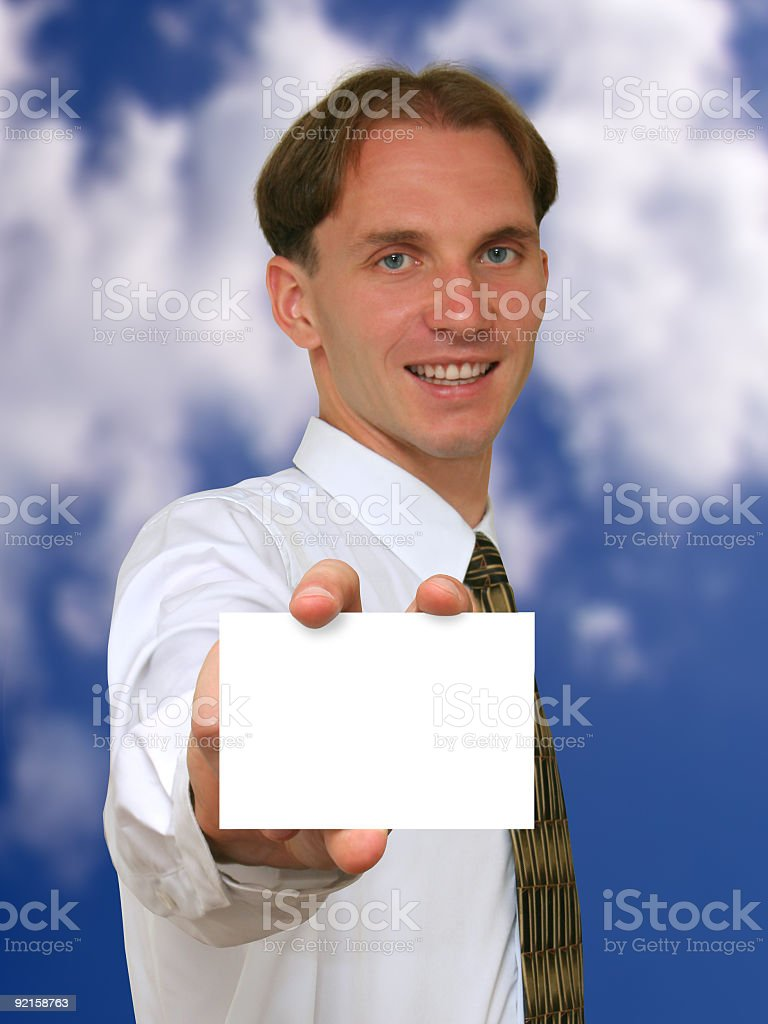 business-card royalty-free stock photo