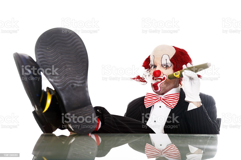 BusinessClown royalty-free stock photo