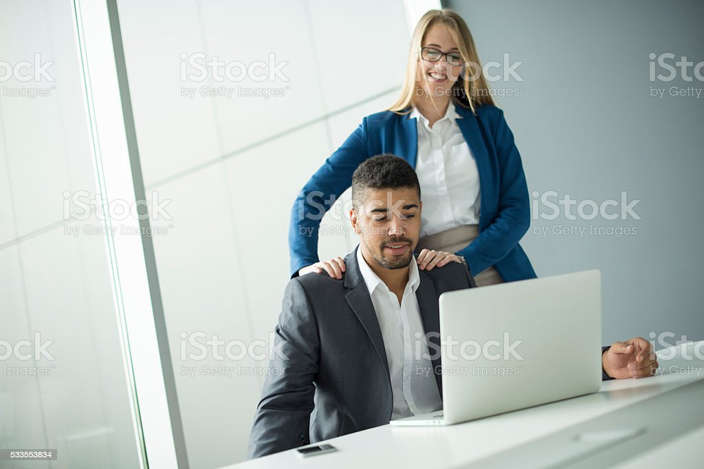 Businesscouple. stock photo