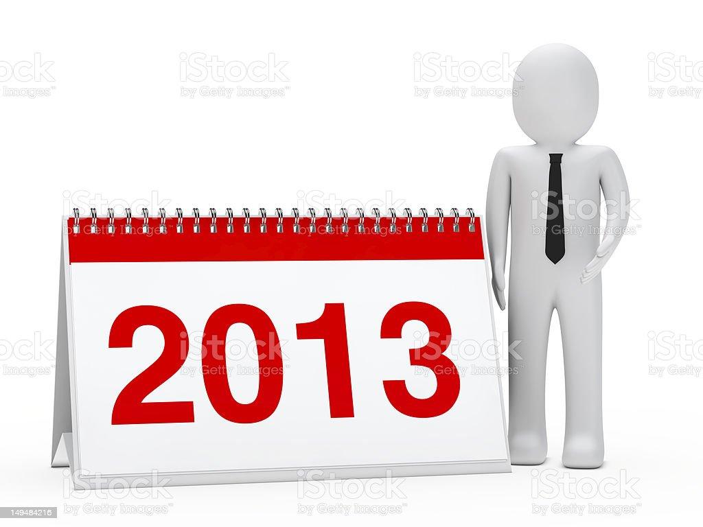 businessman 2013 calendar royalty-free stock photo