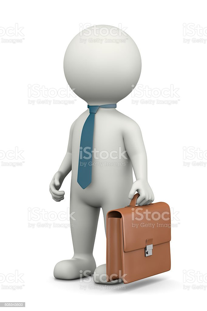 Businessman 3D Character vector art illustration