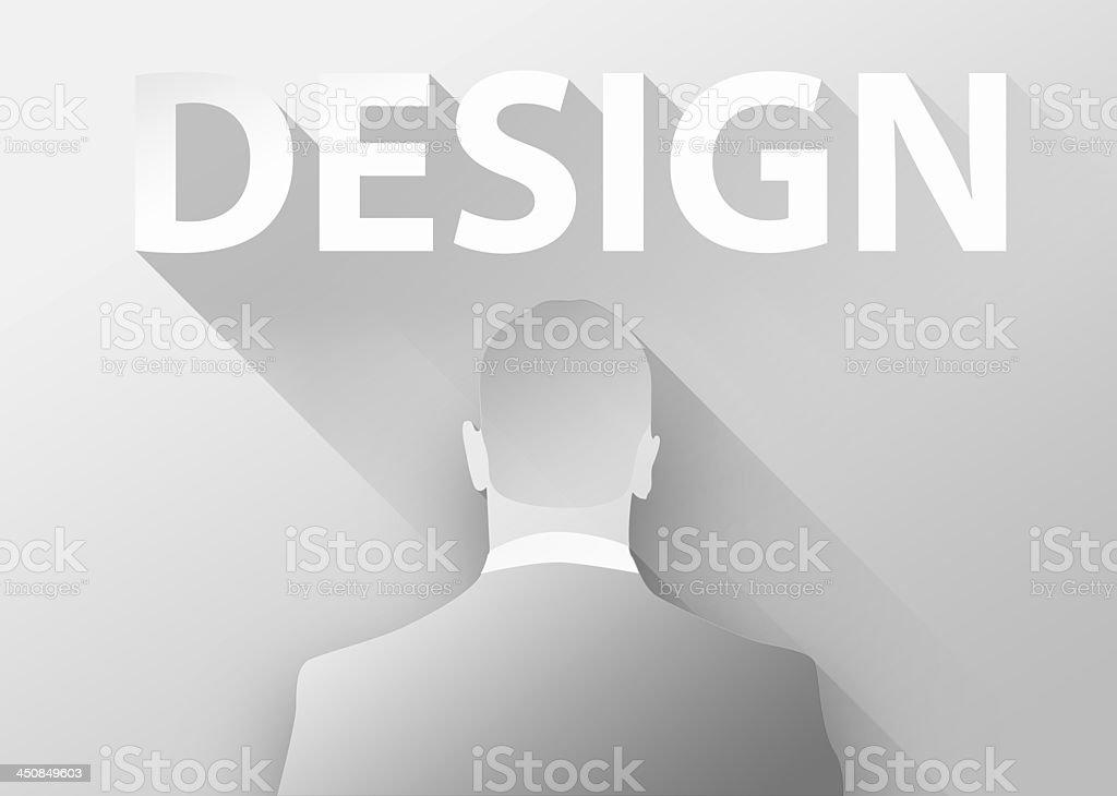 Businessman 3d illustration flat design royalty-free stock photo