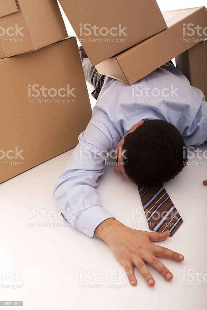 Businessman accident royalty-free stock photo