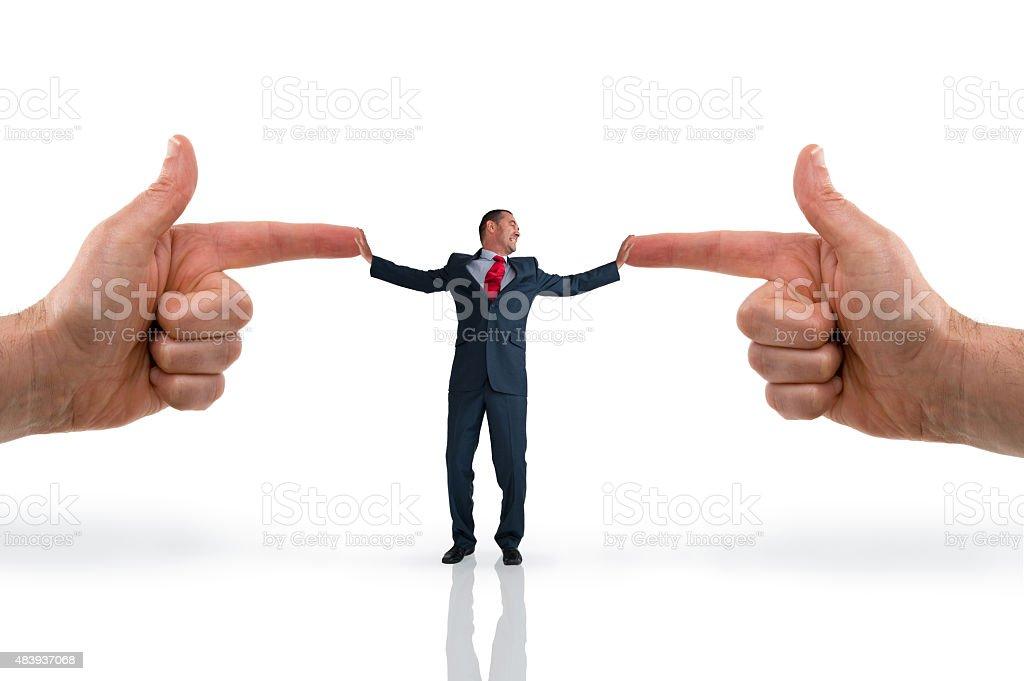 businessman accusation concept stock photo