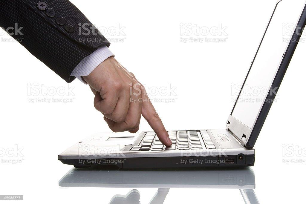 businessman acessing data royalty-free stock photo