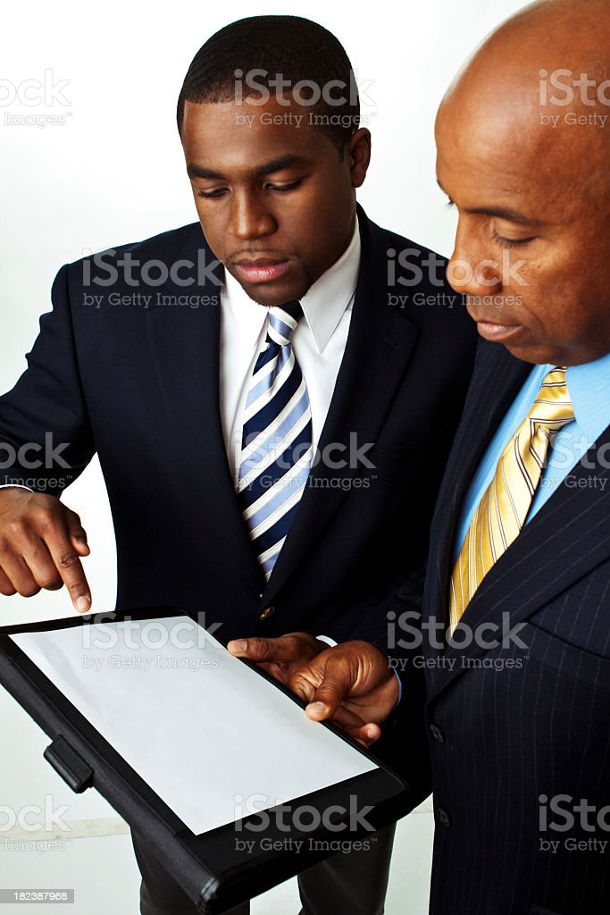 Businessman add text royalty-free stock photo
