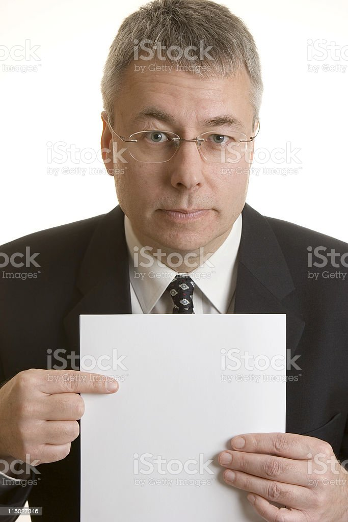 Businessman, Add your own text royalty-free stock photo
