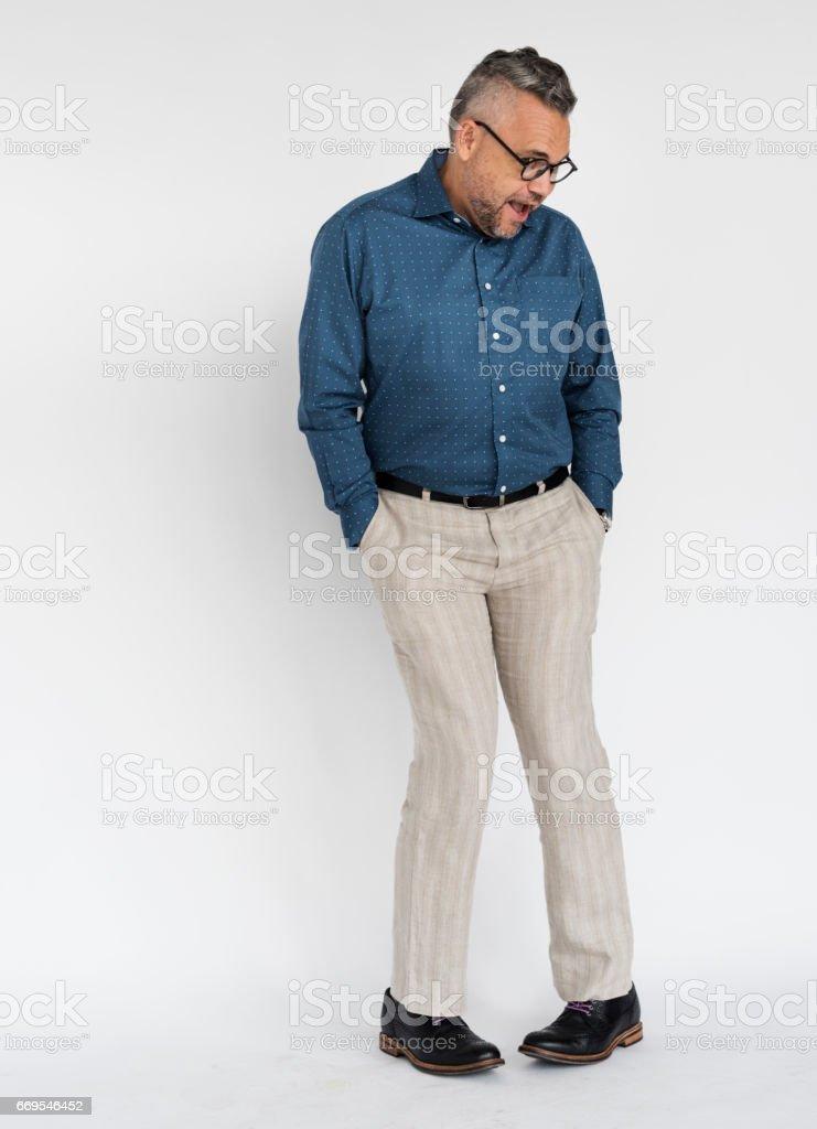 Businessman Adult Portrait Occupation Concept stock photo
