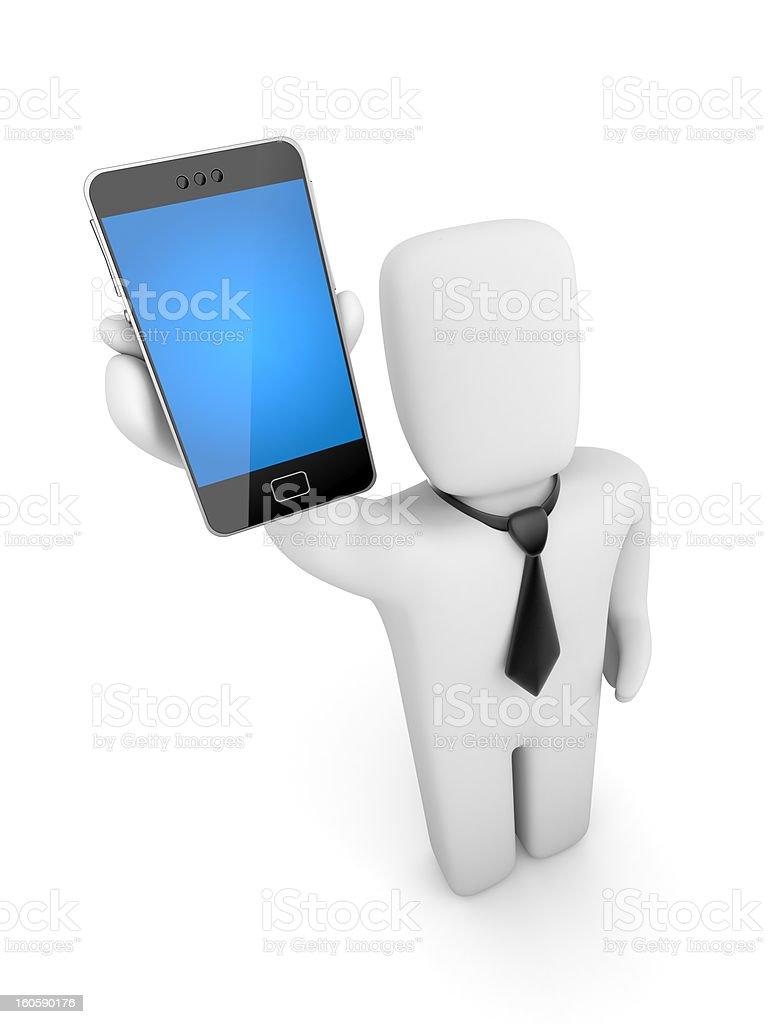 Businessman advertises phone royalty-free stock photo