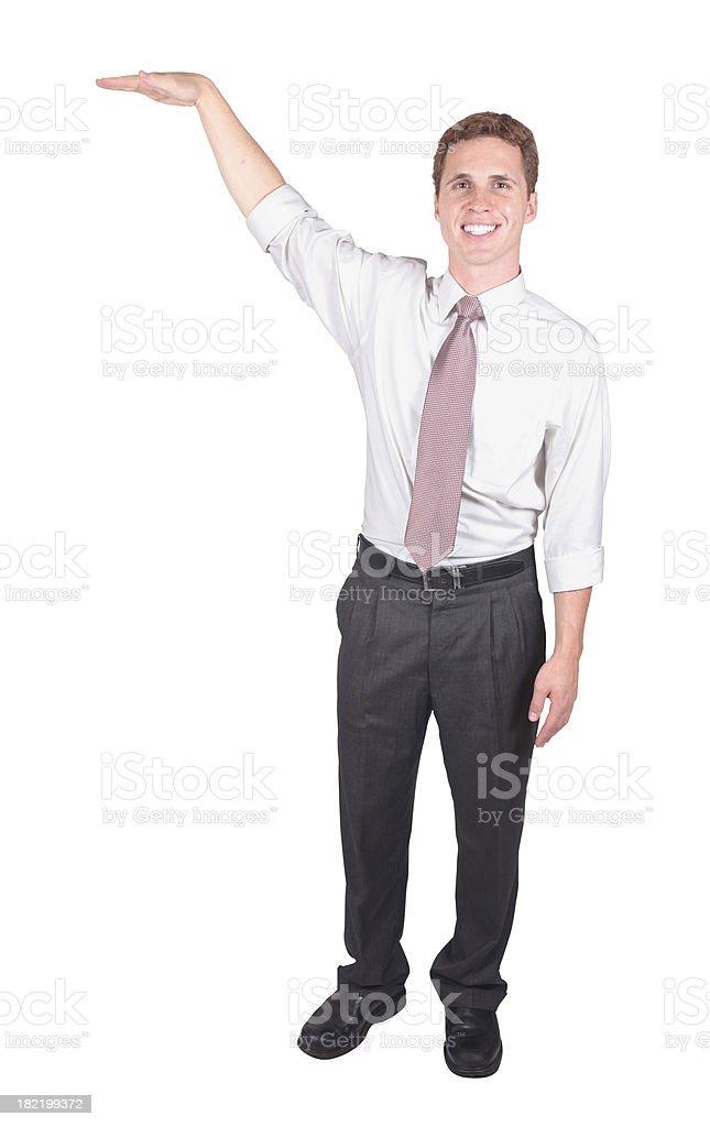 businessman advertising royalty-free stock photo