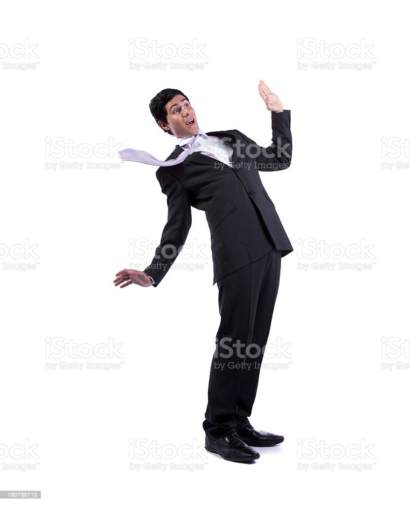 Businessman almost falling royalty-free stock photo