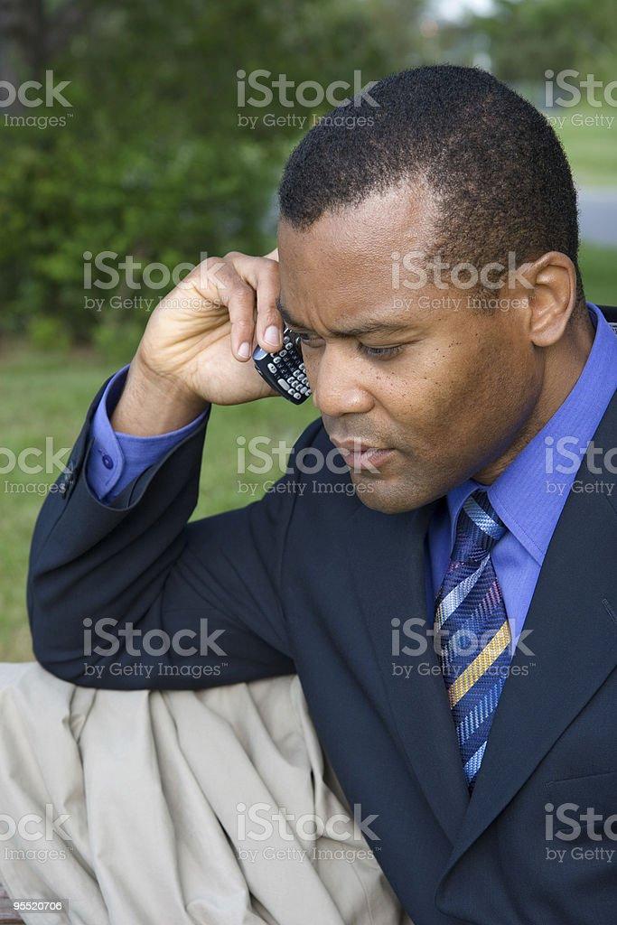 businessman always working stock photo