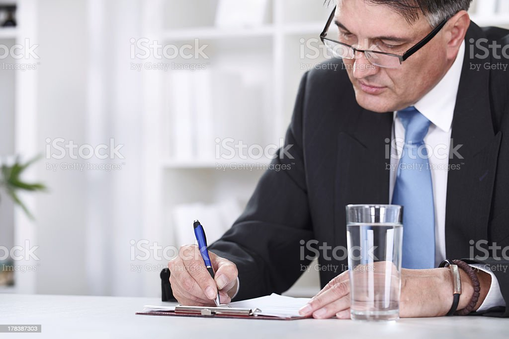Businessman & document royalty-free stock photo