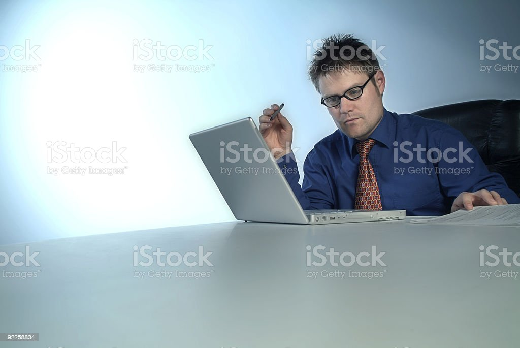 (reguest)businessman analyzing data royalty-free stock photo