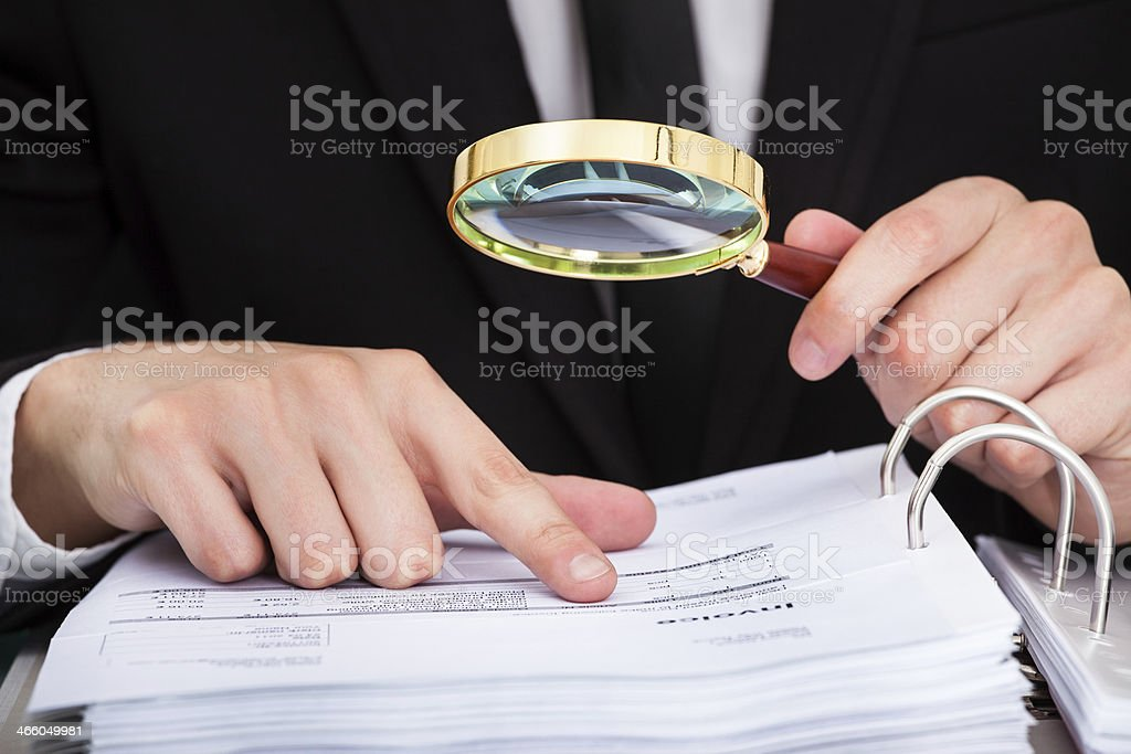 Businessman Analyzing Document royalty-free stock photo