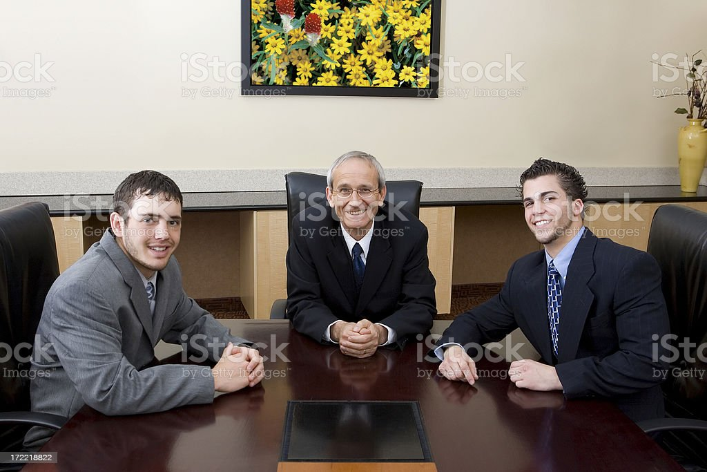 Businessman and Apprentices royalty-free stock photo