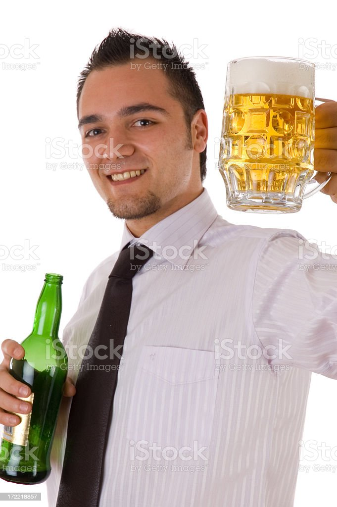 businessman and beer royalty-free stock photo
