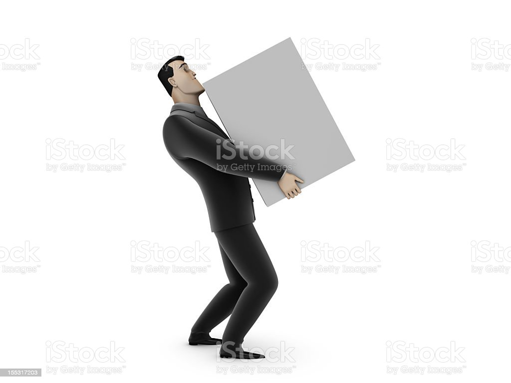 Businessman And Box royalty-free stock photo