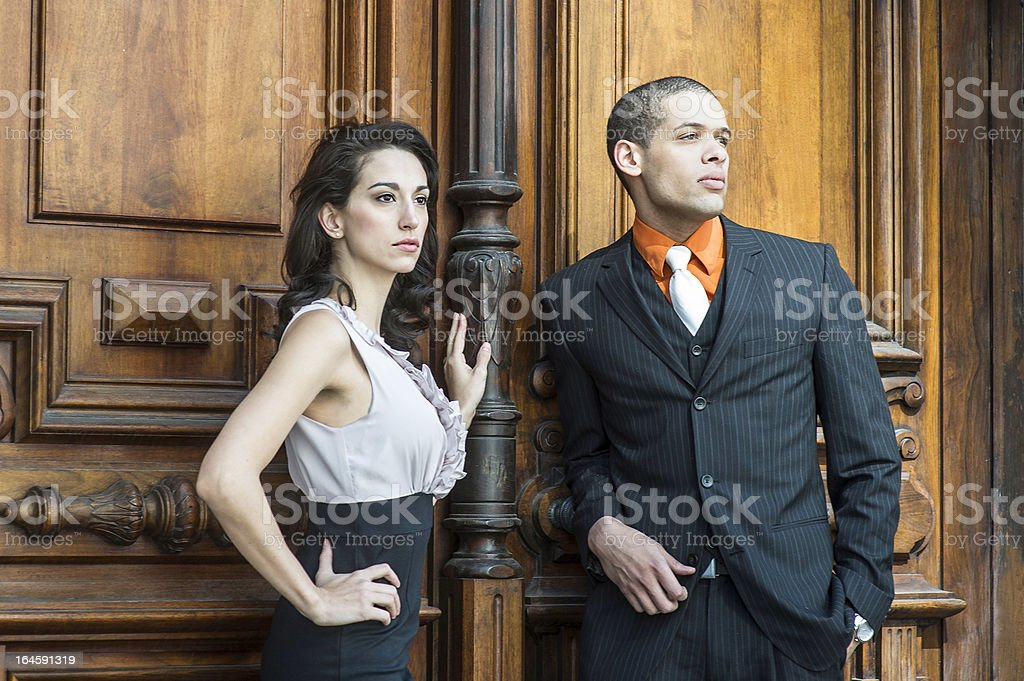 Businessman and Businesswoman royalty-free stock photo